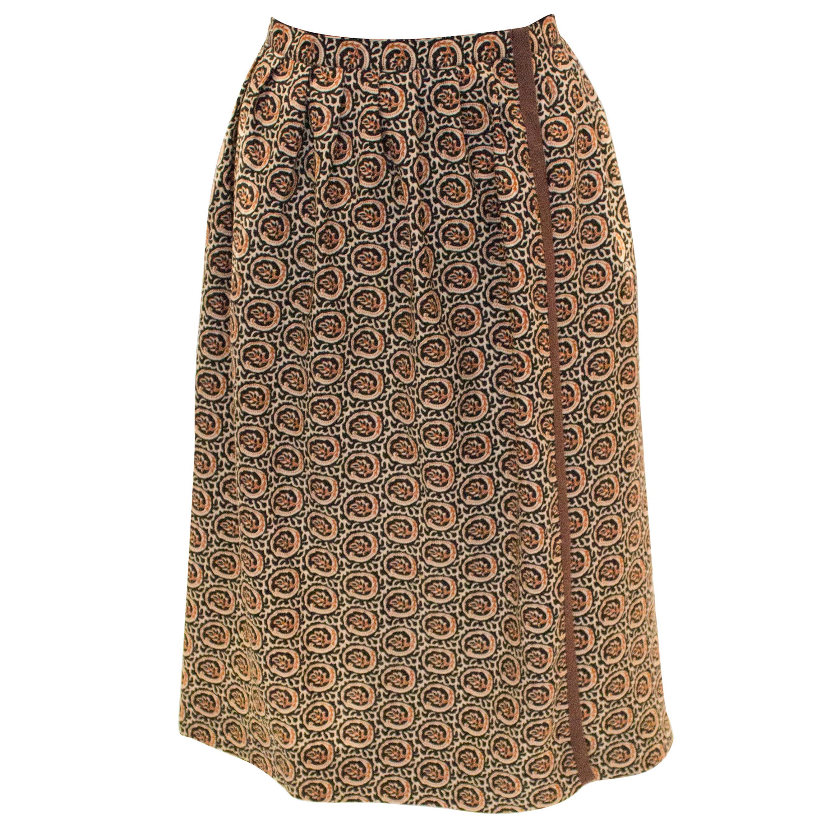 Vintage Yves Saint Laurent Rive Gauche Wrap Over Skirt