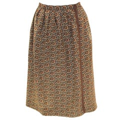 Vintage Yves Saint Laurent Rive Gauche Wrap Over Skirt