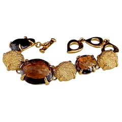 Vintage YVES SAINT LAURENT Robert Goossens Topaz Nugget Bracelet