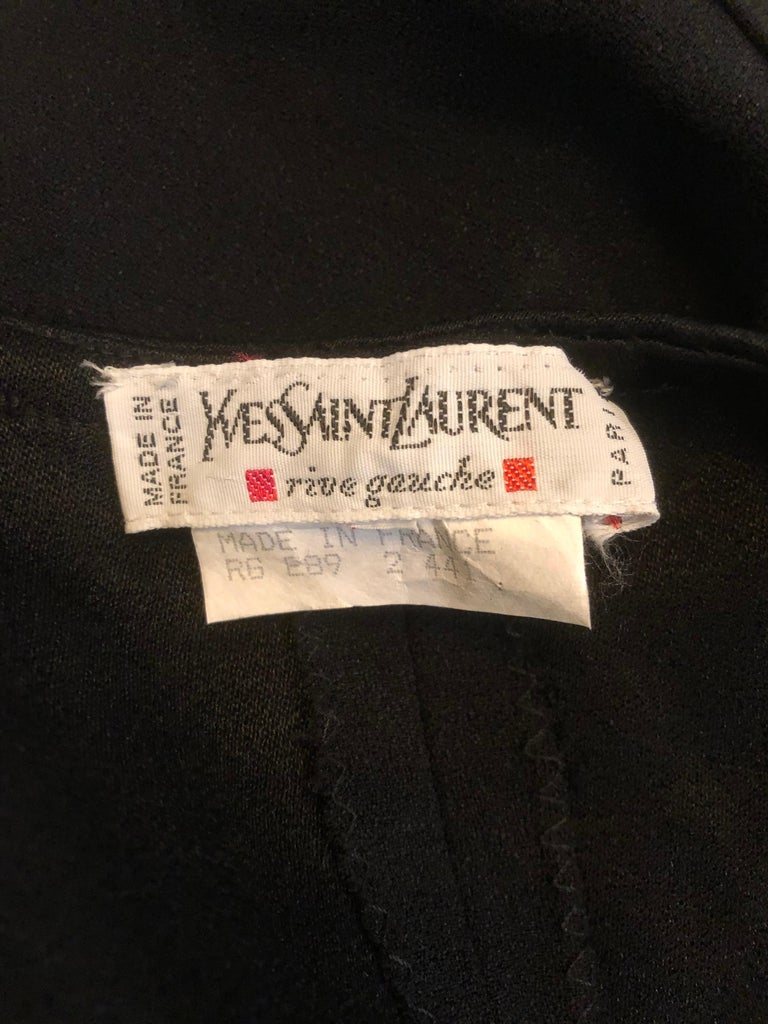 Vintage Yves Saint Laurent Romper Black Rayon Sleeveless 1990s One Piece 90s  In Excellent Condition For Sale In Chicago, IL
