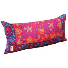Vintage Yves Saint Laurent Silk and Velvet Pillow