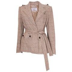 Vintage Yves Saint Laurent Silk / linen mix jacket