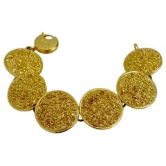 Vintage Yves Saint Laurent Textured Disc Bracelet