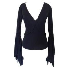 Vintage Yves Saint Laurent Tom Ford Bell Sleeve Shirt Top