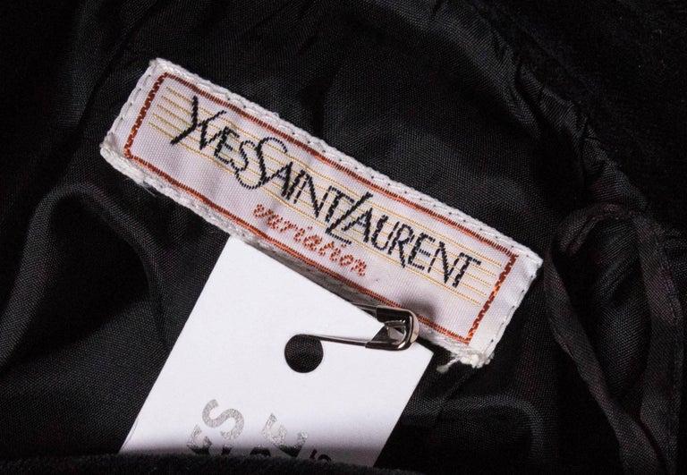 Vintage Yves Saint Laurent Velvet Skirt For Sale 4