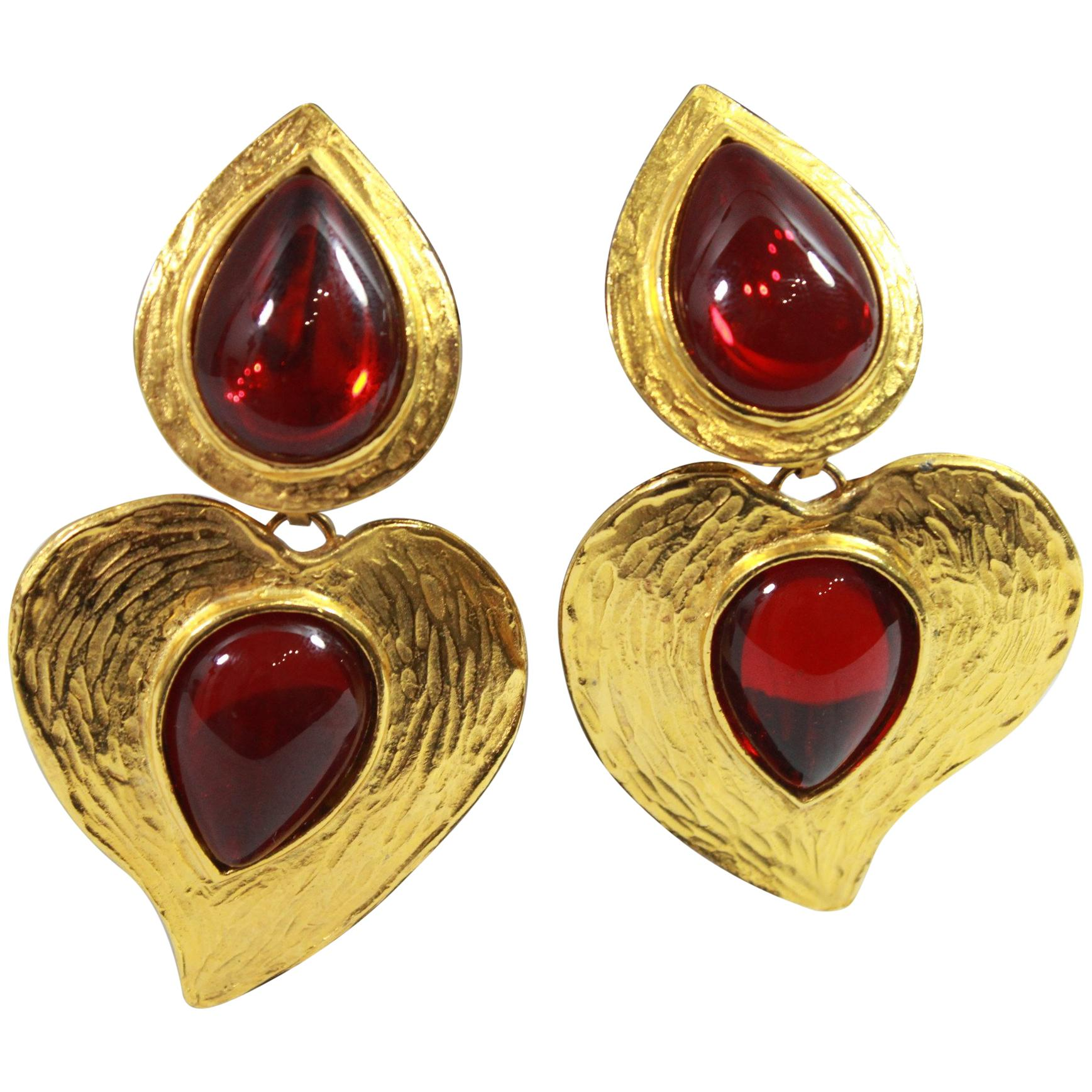 4e6b6e4aed7 Vintage Yves Saint Laurent Earrings - 186 For Sale at 1stdibs