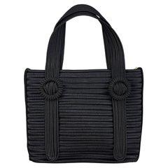 Vintage YVES SAINT LAURENT Ysl Black Passementerie  Hand Bag