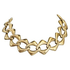 Vintage YVES SAINT LAURENT Ysl by Robert Goossens Chain Choker Necklace