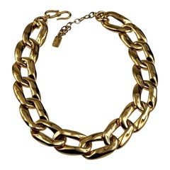 Vintage YVES SAINT LAURENT Ysl by Robert Goossens Chunky Chain Necklace