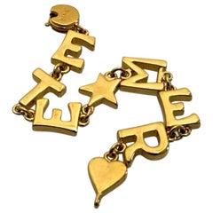 Vintage Yves Saint Laurent YSL ETE MER Letter Bracelet