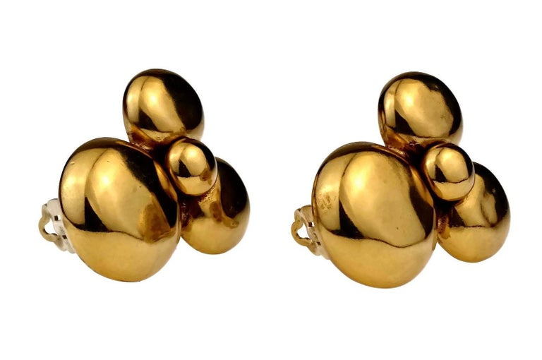 Women's Vintage YVES SAINT LAURENT Ysl Flower Earrings For Sale