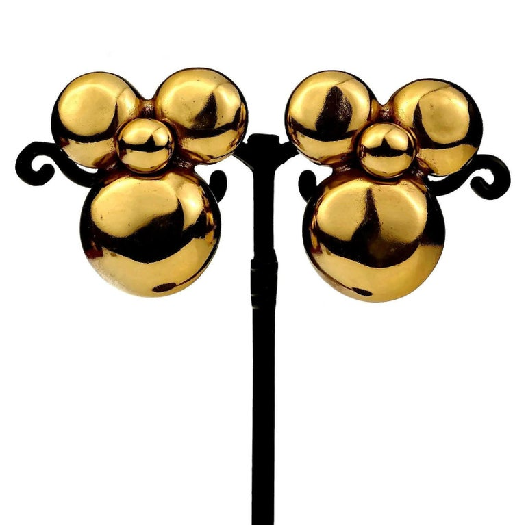 Vintage YVES SAINT LAURENT Ysl Flower Earrings For Sale 1