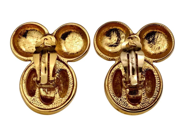 Vintage YVES SAINT LAURENT Ysl Flower Earrings For Sale 5