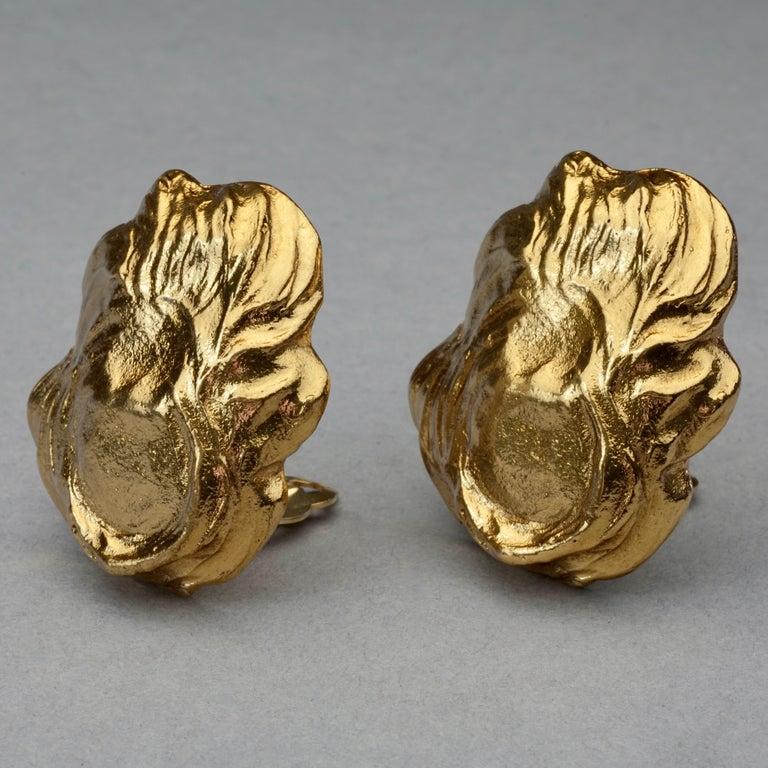 Vintage YVES SAINT LAURENT Ysl Free Form Earrings For Sale 2
