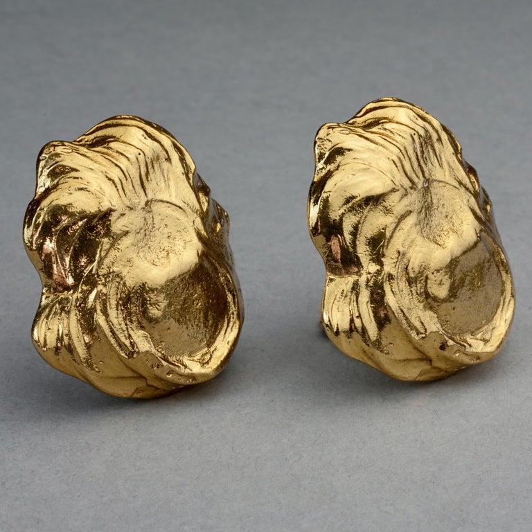 Vintage YVES SAINT LAURENT Ysl Free Form Earrings For Sale 3