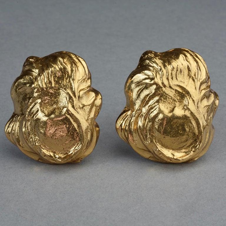 Vintage YVES SAINT LAURENT Ysl Free Form Earrings For Sale 4