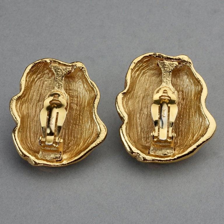 Vintage YVES SAINT LAURENT Ysl Free Form Earrings For Sale 5