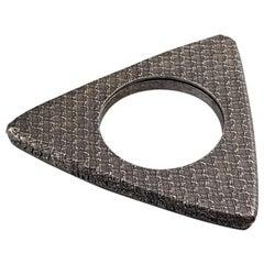 Vintage YVES SAINT LAURENT Ysl Futuristic Textured Triangle Bangle Bracelet