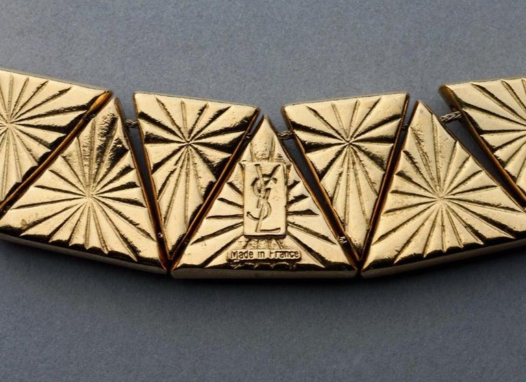 Vintage YVES SAINT LAURENT Ysl Geometric Resin Necklace by Robert Goossens For Sale 6