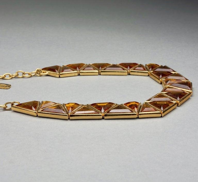 Women's Vintage YVES SAINT LAURENT Ysl Geometric Resin Necklace by Robert Goossens For Sale