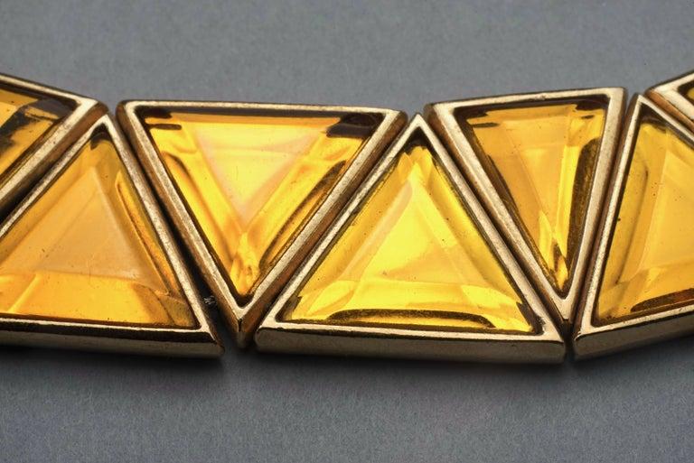 Vintage YVES SAINT LAURENT Ysl Geometric Resin Necklace by Robert Goossens For Sale 1