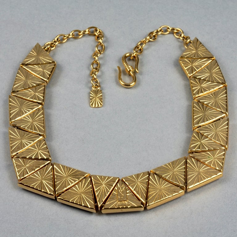 Vintage YVES SAINT LAURENT Ysl Geometric Resin Necklace by Robert Goossens For Sale 4