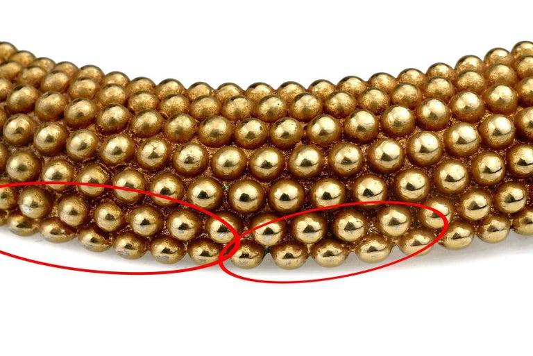 Vintage YVES SAINT LAURENT Ysl Gilt Ball Choker Necklace For Sale 6