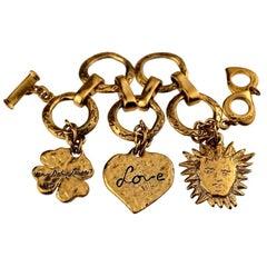 Vintage YVES SAINT LAURENT Ysl Love by Robert Goossens Sun Clover Heart Charm Br