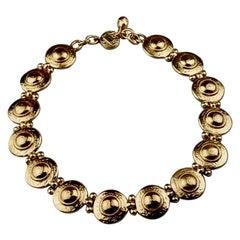 Vintage YVES SAINT LAURENT Ysl Medallion Link Choker Necklace