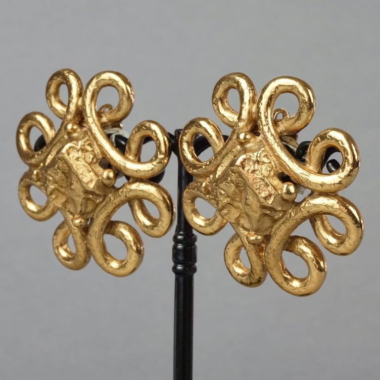 Women's Vintage YVES SAINT LAURENT Ysl Nugget Loop Earrings For Sale