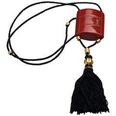 Vintage YVES SAINT LAURENT Ysl Opium Perfume Tassel Necklace