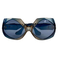 Vintage YVES SAINT LAURENT Ysl Oversized Blue Sunglasses
