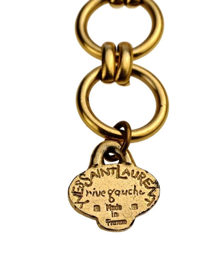 Vintage YVES SAINT LAURENT Ysl Rigid Choker Necklace For Sale 1