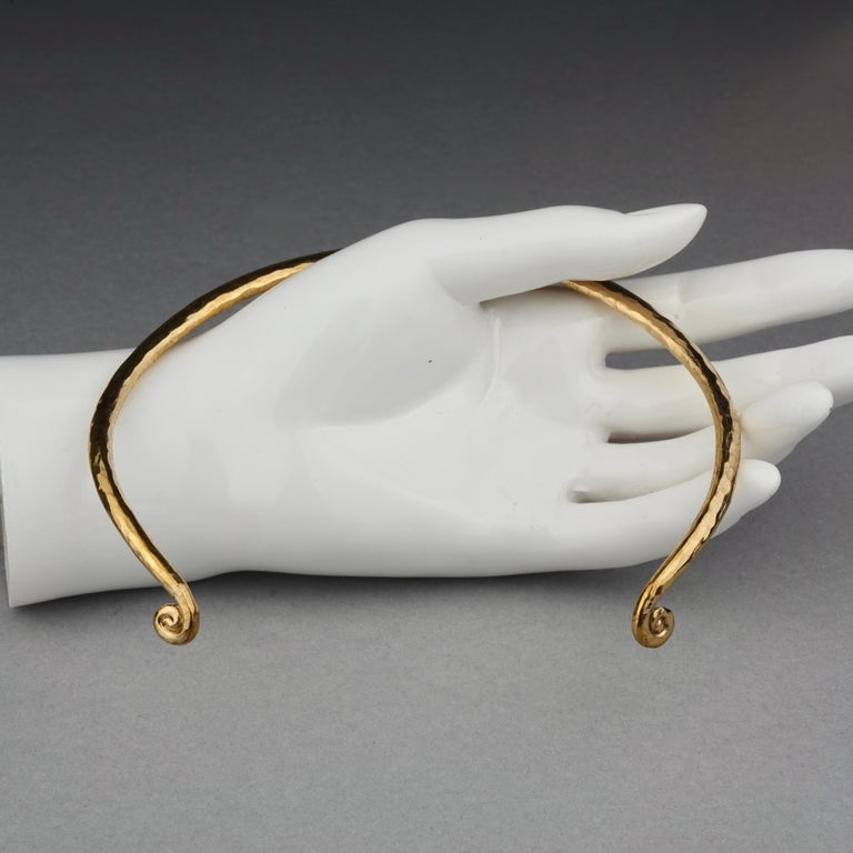 Vintage YVES SAINT LAURENT Ysl Rigid Spiral Choker Necklace 7