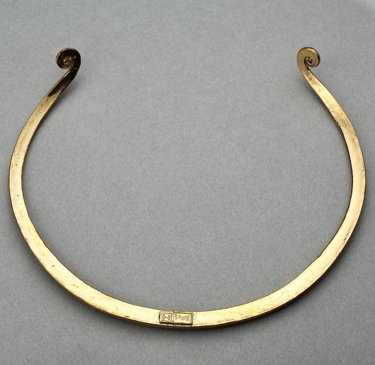 Vintage YVES SAINT LAURENT Ysl Rigid Spiral Choker Necklace 8