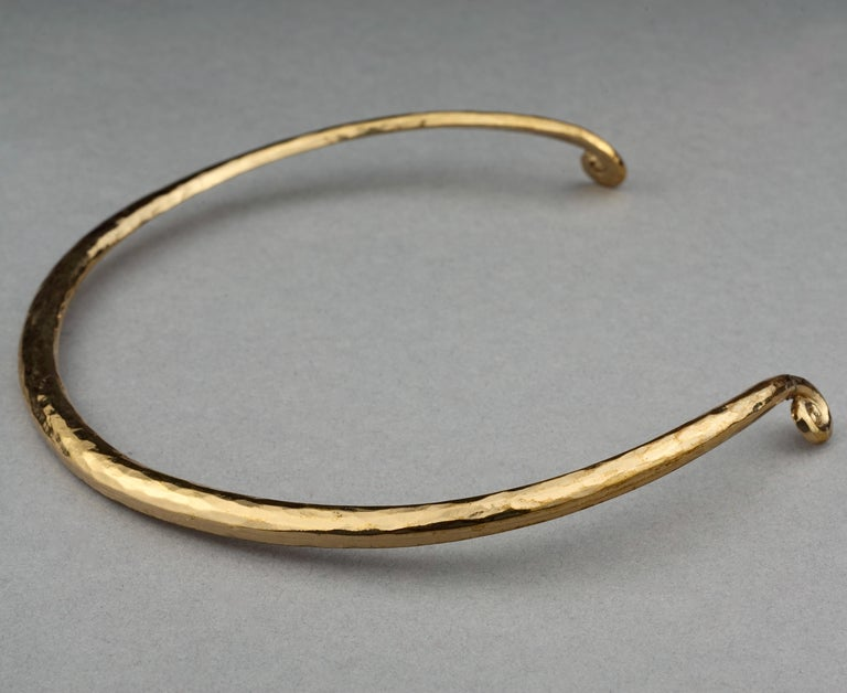 Vintage YVES SAINT LAURENT Ysl Rigid Spiral Choker Necklace 3