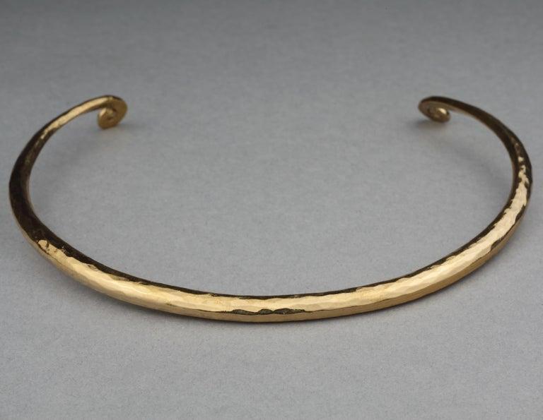 Vintage YVES SAINT LAURENT Ysl Rigid Spiral Choker Necklace 5