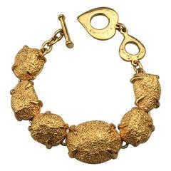 Vintage YVES SAINT LAURENT Ysl Robert Goossens Nugget Link Bracelet