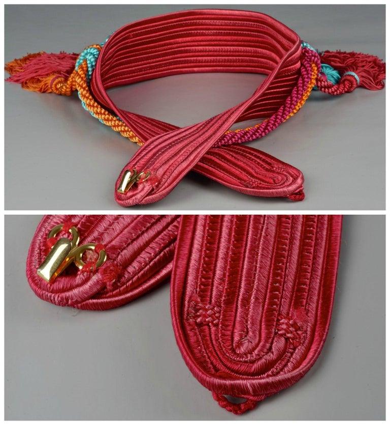 Vintage YVES SAINT LAURENT Ysl Russian Multiple Swag Tassel Passementerie Belt For Sale 5