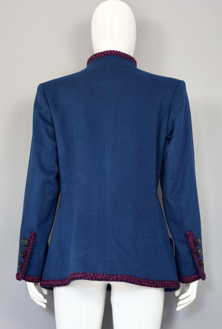 Women's Vintage YVES SAINT LAURENT Ysl Russian Passementerie Tassel Jacket For Sale