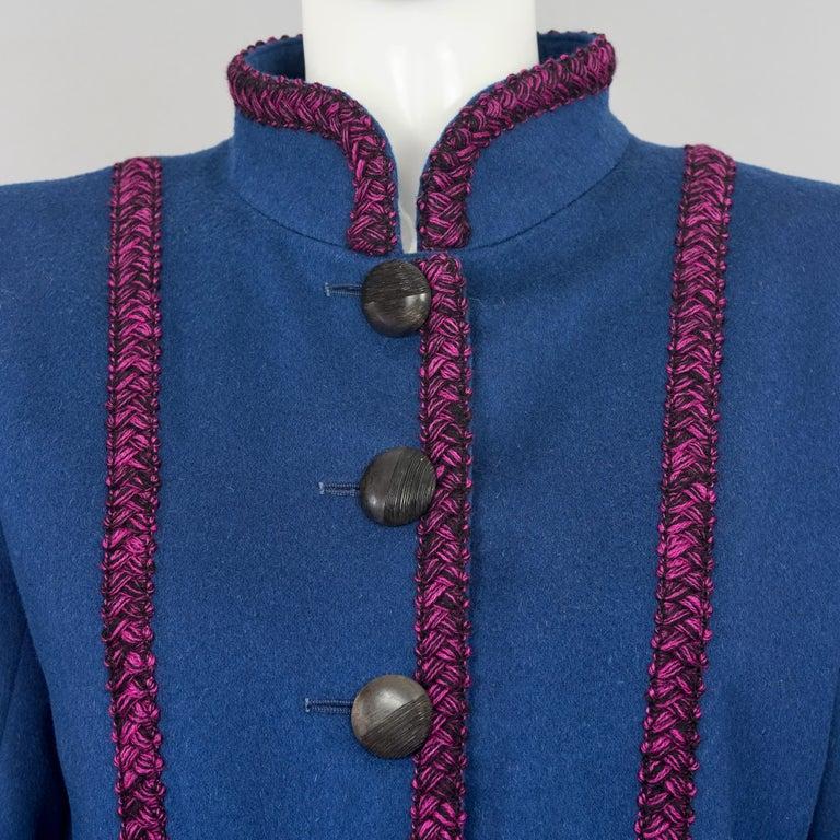 Vintage YVES SAINT LAURENT Ysl Russian Passementerie Tassel Jacket For Sale 1