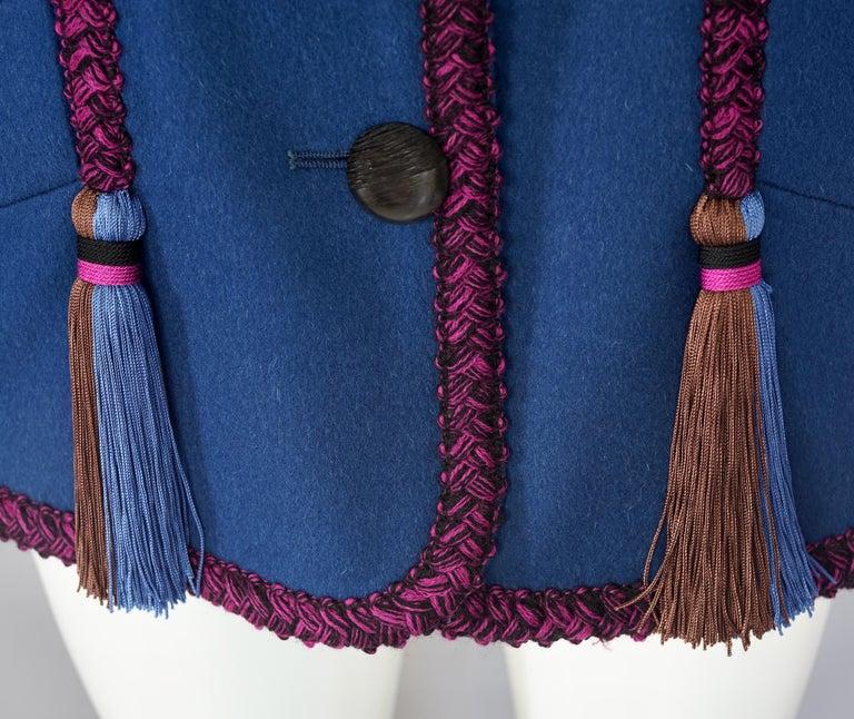 Vintage YVES SAINT LAURENT Ysl Russian Passementerie Tassel Jacket For Sale 2