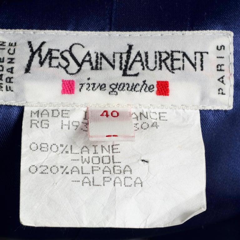 Vintage YVES SAINT LAURENT Ysl Russian Passementerie Tassel Jacket For Sale 4