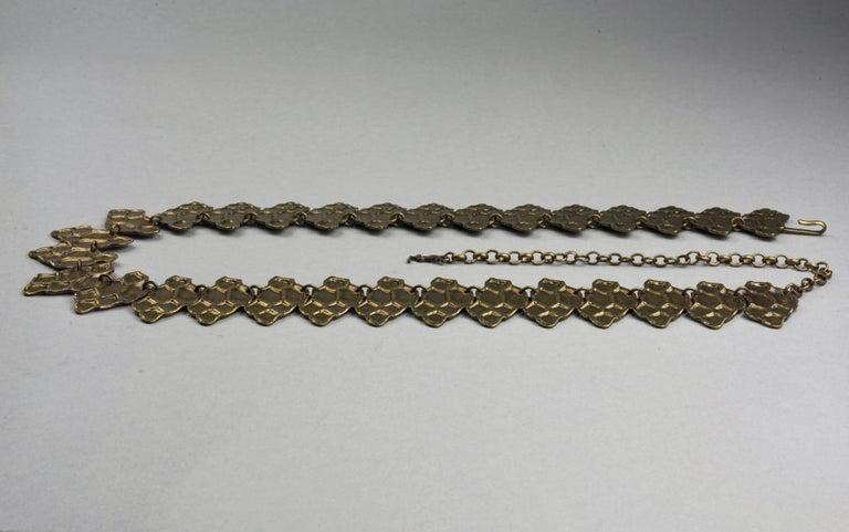 Women's Vintage YVES SAINT LAURENT Ysl Snake Pattern Bronze Link Necklace Belt For Sale
