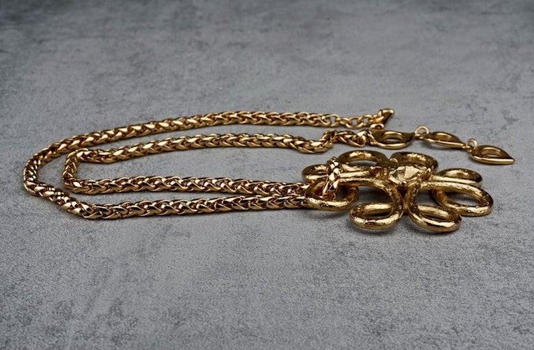 Women's Vintage YVES SAINT LAURENT Ysl Swirl Nugget Necklace For Sale
