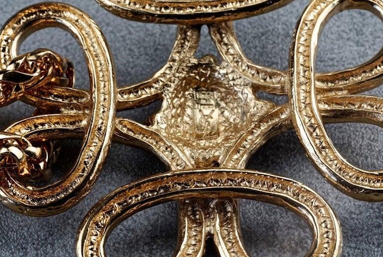 Vintage YVES SAINT LAURENT Ysl Swirl Nugget Necklace For Sale 5