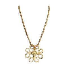 Vintage YVES SAINT LAURENT Ysl Swirl Nugget Necklace