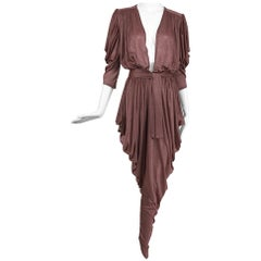 Vintage Yvonne Jacovou London Bowie era Plunge Draped Jumpsuit 1970s
