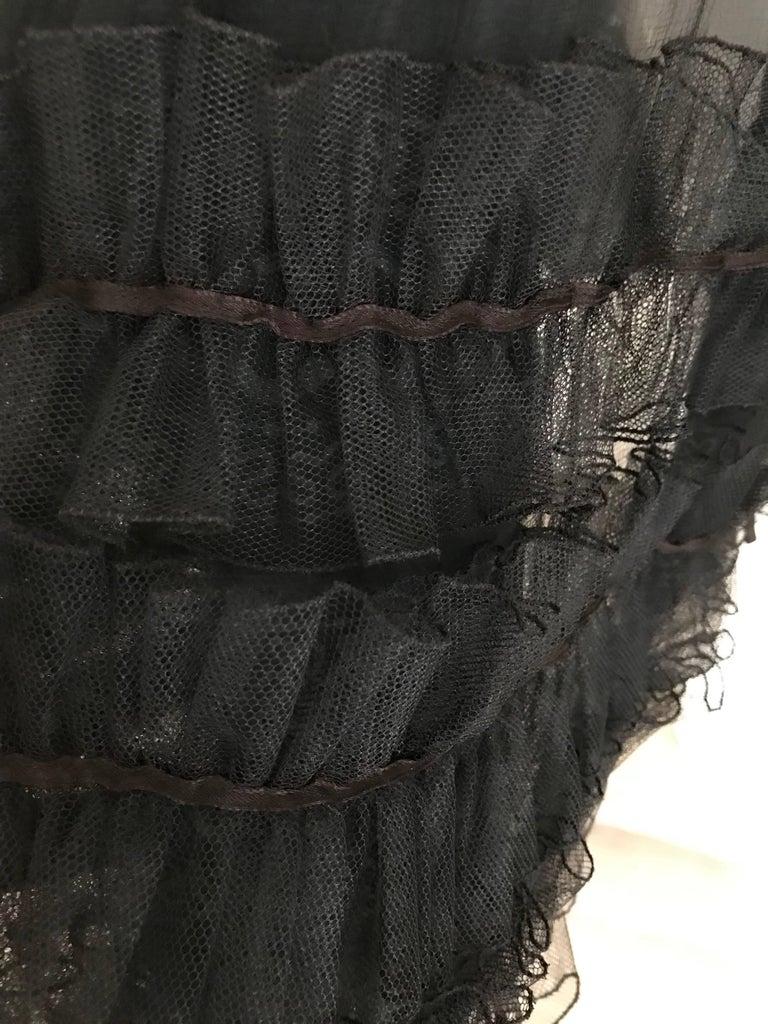 Zandra Rhodes Vintage Black Silk Cocktail Dress For Sale 3