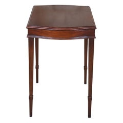 Vintage Zangerle & Peterson Sheraton Style Mahogany Side Accent Table Chicago